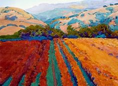 robin purcell , watercolors in the plein air tradition: Nature's Treasures: Contemporary Landscape Painters of California, 3rd Prize Watercolor from Richard Mayhew 80th Annual Statewide Exhibition