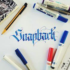 Snapback - Calligraphy by TYPEWA