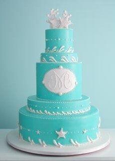 Beautiful beach wedding cake