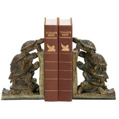 Turtle Tower Bookends Set -