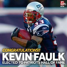 Way to go Kevin Faulk! He is the newest player voted into the Patriots Hall of Fame Patriots Football, Football Team, Football Helmets, Go Pats, Football Season, New England Patriots, Tampa Bay, Tv