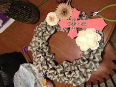 Another version of the coral and chevron wreath made for one of my great friends! :) <3 ya KL!