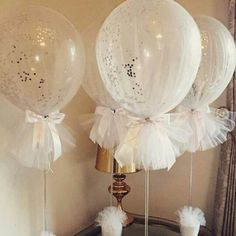 Tulle to balloons - neat for girl baby showers, anniversaries...