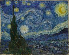 Vincent van Gogh. The Starry Night. Saint Rémy, June 1889