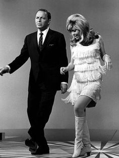 Frank and Nancy Sinatra, 1966 - Fringes are very 1920 inspired