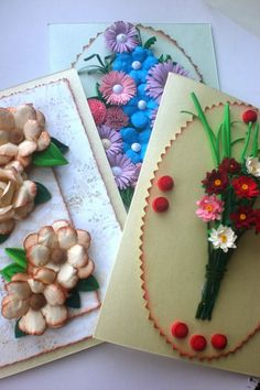 : A lot of different cards 3d Paper Flowers, Gift Wrapping, Patterns, Blog, Cards, Gifts, Gift Wrapping Paper, Block Prints, Presents
