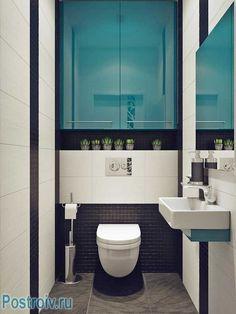Дизайн маленького туалета by rusu ruslan. Фото