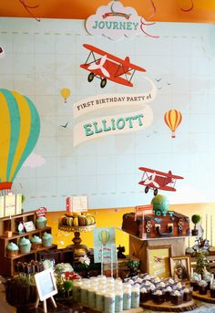 Vintage Travel Themed Party