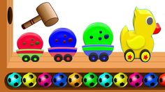 Learn Colors Numbers with WOODEN FACE HAMMER XYLOPHONE Wooden Duck Toy Train Cookies Finger Family
