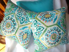 Leaning towards these colors..plus some earth tones..for our porch decor. Blues,greens,and orange
