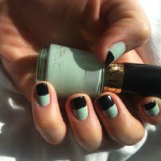 Nail design i tried today :) <3 revlon nail polish!!