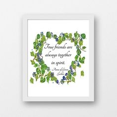 Anne of Green Gables printable download literary quote true   Etsy