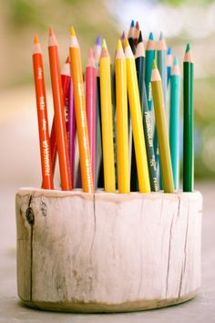 A pretty gift for your artsy friend...or a creative way to coerce your children into putting away their colored pencils!