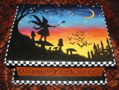 Halloween Fairy Magic Treasure Box, Original by Carolee Clark