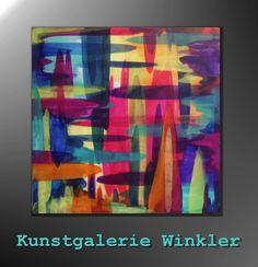 Acrylmalerei - Abstrakte Gemälde Acrylbilder Bunt UNIKAT 80 x 80 - ein Designerstück von A-Winkler bei DaWanda  http://de.dawanda.com/shop/A-Winkler