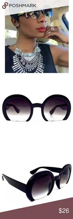 """""""Mod Statement"""" Black Frameless Sunnies Make a statement while maintaining style and grace. These sunnies are super cute. The frames are black retro styled with 99% visibility. They are durable and perfect year round. They are a best seller in our online boutique. We're excited to offer them here. Crowned In Royalty Accessories Sunglasses"""