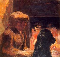 Woman with Dog (also known as Marthe Bonnard and Her Dog) Pierre Bonnard - 1906 (by BoFransson)