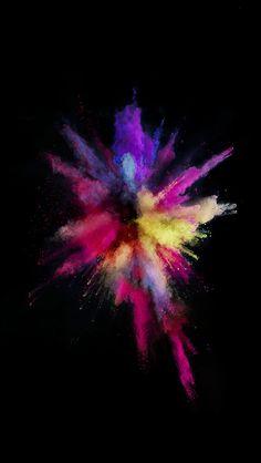 freeios8.com - an57-apple-color-rainbow-red-dark-spark-ios9 - http://bit.ly/20nlG8u - iPhone, iPad, iOS8, Parallax wallpapers