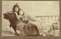 Photo: Actress Sarah Bernhardt, as Cleopatra, New York, by Napoleon Sarony, 1891