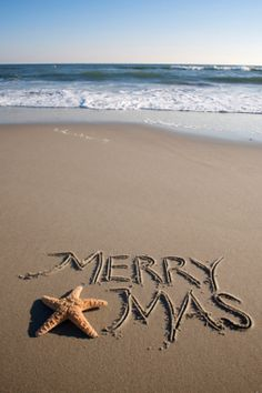 Spend Christmas on the beach!  I would write out Christmas and dot the i with the starfish.  Just saying.....