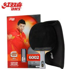(64.48$)  Watch now - http://ai8o9.worlditems.win/all/product.php?id=1467261411 - DHS Original 6-Star Table Tennis Racket (6002, 6006) with Rubber (Hurricane 3, pips-in) + Bag Set Ping Pong Bat Tenis De Mesa