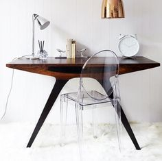 Ghost Chair and Mid-Century Desk