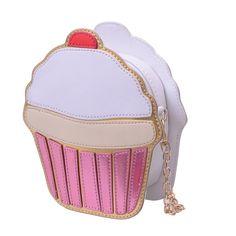 New Summer Cute Cartoon Women Ice cream Cupcake Mini Bags PU Leather Small Clutch Handbags Fashion Girl Messenger Shoulder Bag