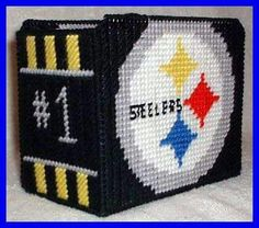 CD HOLDER FOOTBALL STEELERS by TRICIA 1/2
