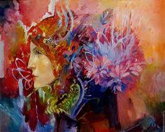 Купить Осень - девушка, осень, платок, шаль, Живопись, живопись маслом, картина в подарок