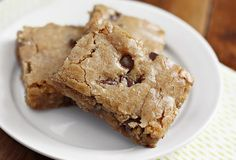 Drunken Blondies | Ezra Pound Cake. Made with bourbon, coconut, pecans and chocolate chips.