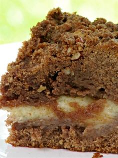 Cinnamon Cream Cheese Streusel Coffee Cake for Christmas morning.