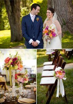 DC Real Wedding - Bergerons Flowers - Bergerons Event Florist Blog #bouquet #boutonnière  #centerpiece #BrideAndGroom #flowers #CeremonyFlowers #ColorfulFlowers #OatlandsPlantation  Photo Credit: #GenevieveLeiperPhotography