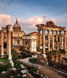 Roman Forum (Foro Romano) and Ruins of Septimius Severus Arch and Saturn Temple at Sunset, Rome, Italy | 45 Reasons why Italy is One of the most Visited Countries in the World