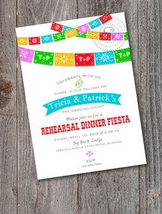 Rehearsal Dinner Fiesta Engagement Fiesta by CrystalScottDesigns