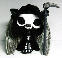 halloween skeleton grim reaper angel of death ooak custom littlest pet shop