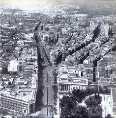 Calle Alcalá de Cibeles a Sol en 1949.