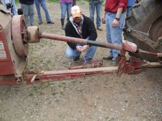 OT's training on farm equipment working with AgrAbility.