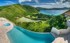 The world's most beautiful infinity pools. Harbour House Villa, Guana Island It's the view that makes the infinity pool at two-bedroom Harbour House Villa stand out. From here, swimmers can overlook both the Atlantic and the Caribbean. Maldives, Hotels With Infinity Pools, Infinity Edge Pool, Harbor House, Paradise On Earth, Island Resort, British Virgin Islands, Pool Designs, Me Time