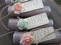 Mint scented body scrub for invigoration!  Bridal shower wedding favor Mint to be by BabyEssentialsByMel
