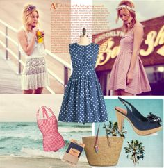 """""""fifities beachstyle"""" by prettyinpastelmum on Polyvore"""