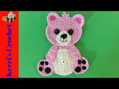 Get this free crochet teddy bear pattern and video tutorial at Kerri's Crochet. Learn how to make a cute teddy bear for gifts and decorations. Learn how to crochet these cute teddy bears with my free crochet pattern and video tutorial at Kerri's Crochet. Crochet Applique Patterns Free, Crochet Teddy Bear Pattern, Crochet Bear, Baby Knitting Patterns, Free Crochet, Cat Applique, Booties Crochet, Free Pattern, Baby Teddy Bear