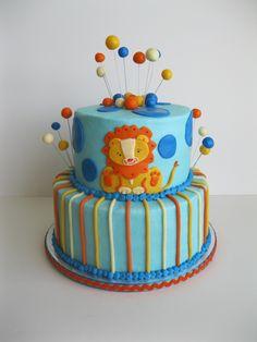 Chicago Bulls Themed Birthday Cake Covered In Buttercream Cake - Lion birthday cake design