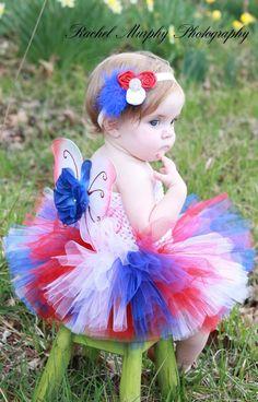 The Jackie  Patriotic Princess Baby Glam WINGS  by LilTutuDivas, $15.95