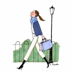 French Illustration, Cute Illustration, Winter Painting, Cartoon People, Pencil Art Drawings, Jolie Photo, Fashion Sketches, Fashion Illustrations, Rock Art