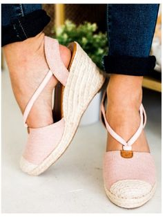 **** Try out Stitch Fix today! Cutest pair of espadrilles for Spring! Love this blush color with nude embellishment. Stitch Fix Spring, Stitch Fix Summer, Stitch Fix Fall 2016 2017. Stitch Fix Spring Summer Fall Fashion. #StitchFix #Affiliate #StitchFixInfluencer