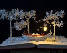 Der Baum der Liebe Buchkunst Buch-Skulptur von MalenaValcarcel                                                                                                                                                                                 Mehr