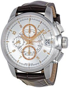Watches best price Hamilton Men's H40616555 Timeless Automatic Watch A sophisticated Hamilton wristwatch having a mixture of two materials stainless steel and calfskin. This Hamilton watch is…