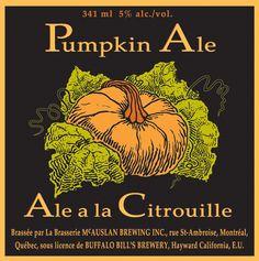 "ale a la citrouille"", pumpkin ale contracted brewed by mcauslan ..."