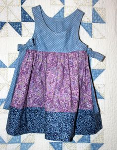 Girl's Size 3 Sundress Jumper in light blue by RowesFlyingNeedles