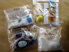 Easy science experiment kits for kids. Great gift idea!